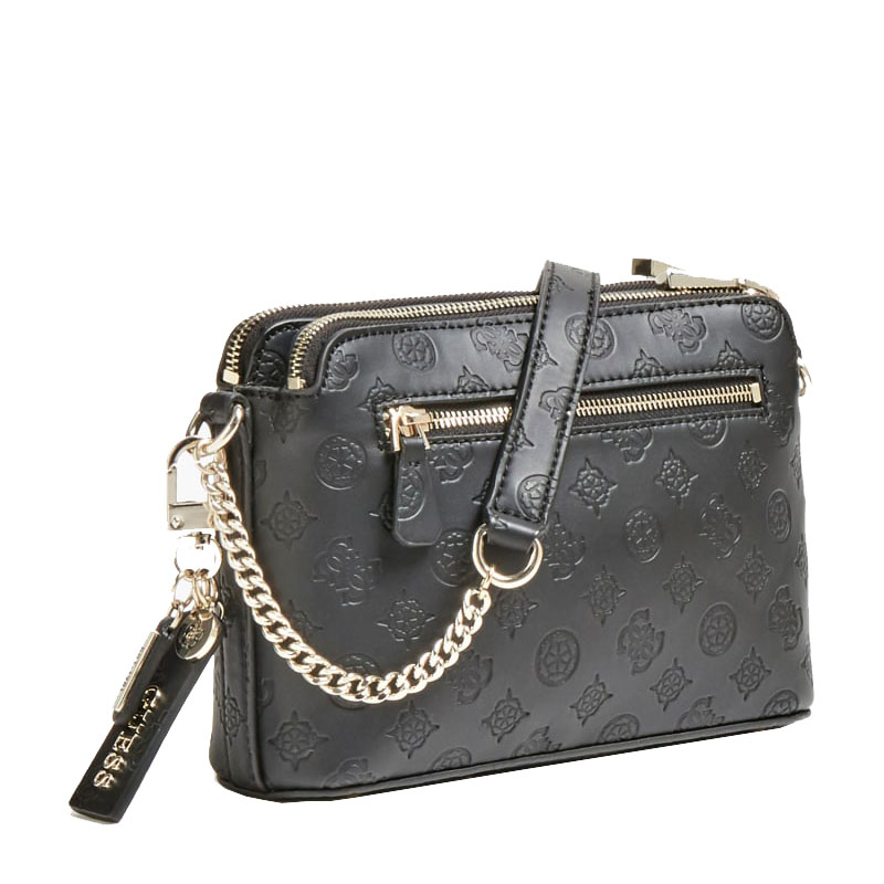 Guess Ninnette Debossed Logo Crossbody Bag Sg7877140 Black 1