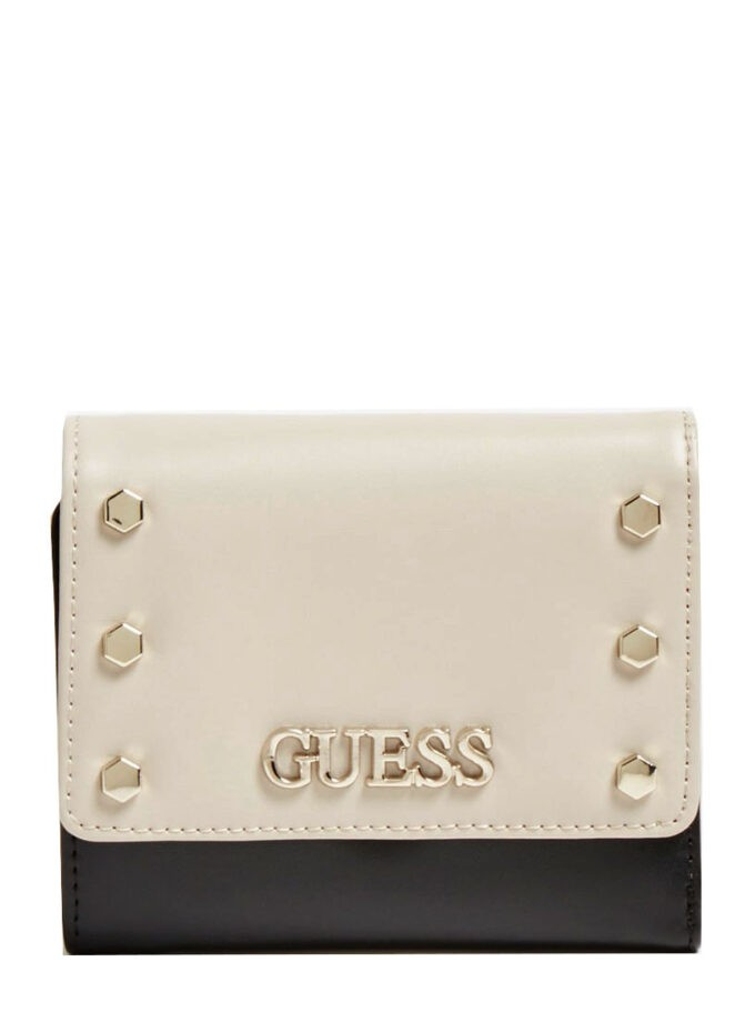 Guess Tia Studded Mini Wallet Vg7880430 Stone Multi