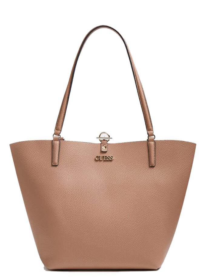 Guess Alby Shopper Vg745523 Mocha Rosewood