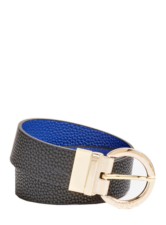 Guess Belt Alby Reversible Bw7420vin35 Black Blue 1