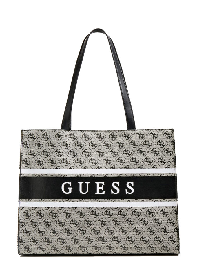 Guess Monique 4logo Shopper Hwjy7894230 Coal