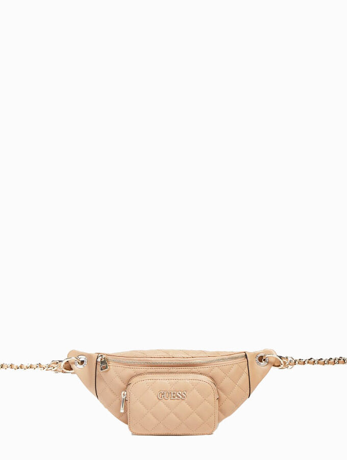 guess bum bag illy mini hwvg7970800 beige