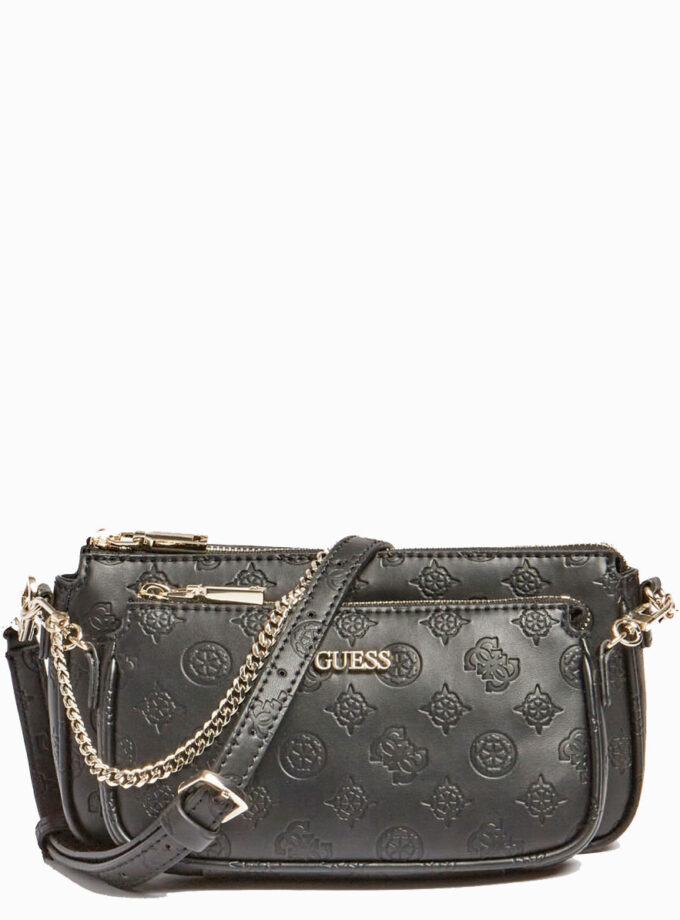 guess crossbody bag 4logo dayanne mini hwsg7968700 black