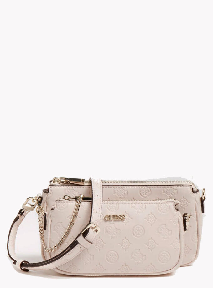 guess crossbody bag 4logo dayanne mini hwsg7968700 blush