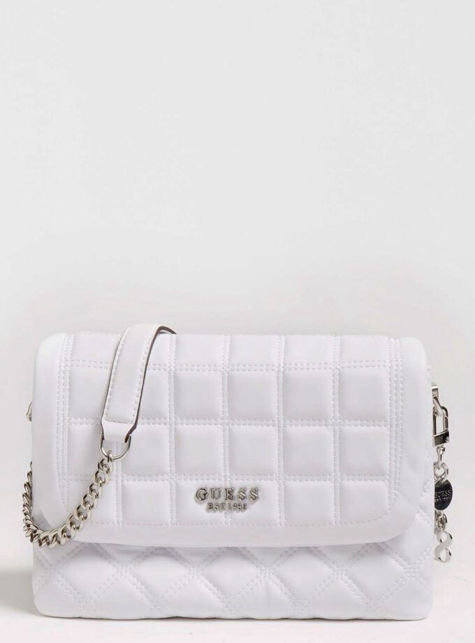 guess crossbody bag kamina hwvy8111200 white