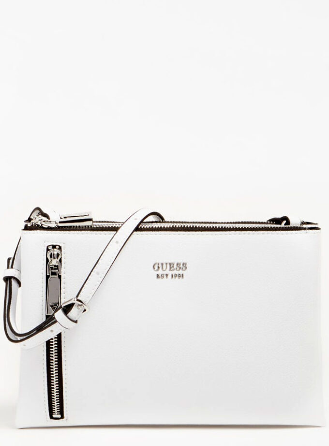 guess crossbody bag naya mini hwvy788170 white