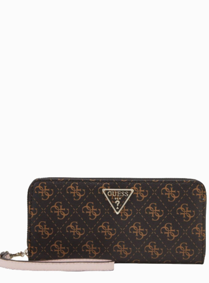 guess wallet ambrose slg sg810846 brown blush logo